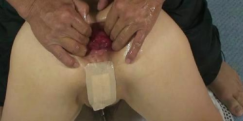 Shameless housewife fist fucked in her ruined asshole