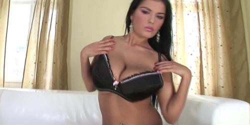 Young busty Ora take two dicks