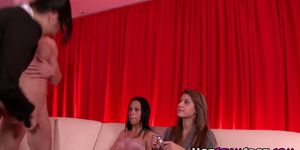Real femdom babes watch jerking