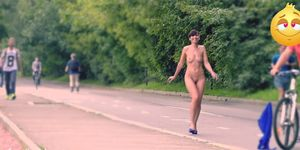 Hidden Cam Captures Jeny stripped in Public