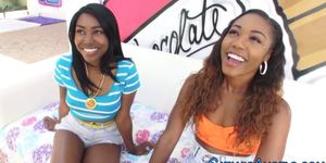 Wam ebony teen facialized
