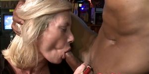Cocksucking cfnm babe titfucked at sexparty