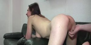 Fisting a greedy teens cavernous gaping pussy