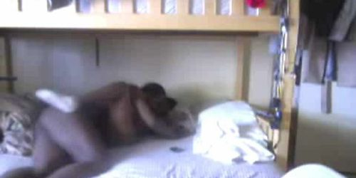 ebony 69 hard riding in dorm