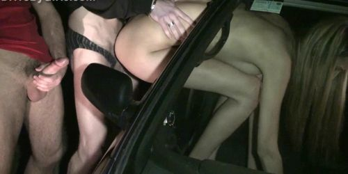 Gorgeous TEEN with BIG tits PUBLIC gangbang Part 6
