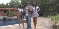 Awesome 3some with teen latinas