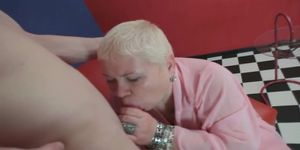Mature woman fuck asshole  with young boy