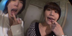 XXX JAPAN TV - Japanese dykes use their bodies and a big dildo for pleasure