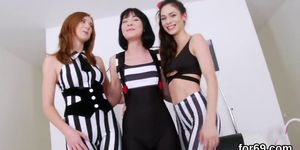 Lesbo peaches open up their extreme anals and penetrate fat toys