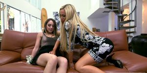 Nikki Benz and Remy LaCroix shared a rod Porn Videos