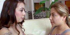 Teen stepsister muffdives