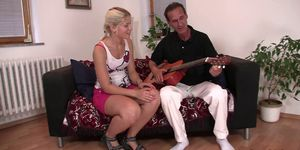 Father-in-law fucks blonde from behind