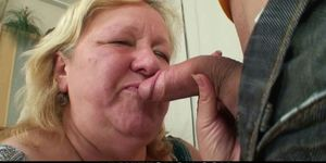 Wife finds huge mother in-law rides his cock