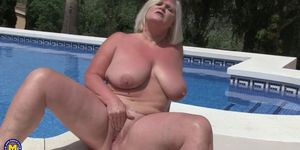 Big titted temptress Lacey Starr playing with herself