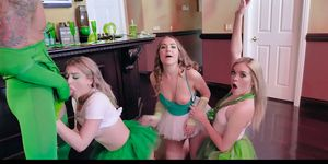 BFFS - Three Besties Sharing On Irish Cock On St Pattys Day