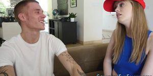 Blonde stepsis teen rides Porn Videos