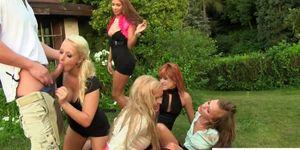 Golden shower fetish euro babes love orgy