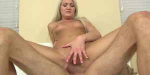 Blonde Teen Ashley buries her toung in stepdads asshole and swallows cum Porn Videos