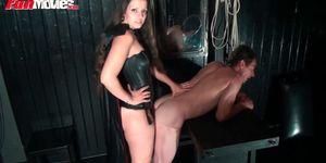 German girl pegging her sex slave