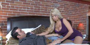 Busty blonde Bridgette B. take cock