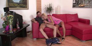 Blonde friends girlfriend seduces him