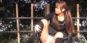 XXX JAPAN TV - Japanese teen enjoys it when you stare at her pussy outside