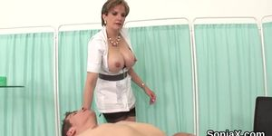 Unfaithful english mature lady sonia shows her huge knockers Porn Videos