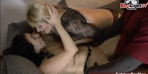 2 hot German amateur housewifes MILF  threesome homemade with bbc