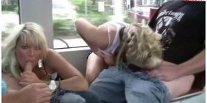 Lustful ride in the tram - PUBLIC