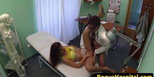 Cock sucking Euro amateur fucks her doctor