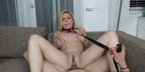 Blonde stepmom Blaten Lee riding her stepsons cock