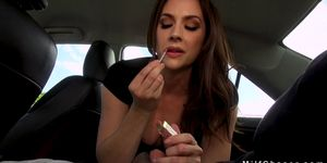 Milf sucks in car and fucks in bedroom