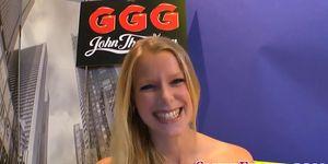 German whore gulps jizz