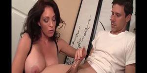 Hand job From Bossy Big Tit Stepmom