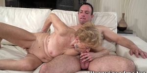 Granny gets eaten out and fucked