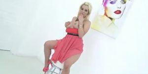 Blonde slut anal and DP treatment