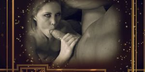 Girl gets her pussy licked and sucks on a guys massive cock Porn Videos