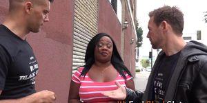 Fat black babe swallows Porn Videos