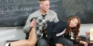 Spanked college teenager