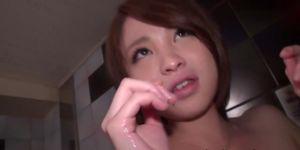 Asian teen gets creampie