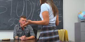 INNOCENT HIGH - Uniform teen jizz sprayed