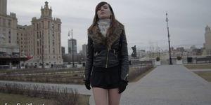 Jeny Smith seamless pantyhose public upskirt