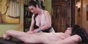 Massage Turns Into Lesbo Scissoring Action