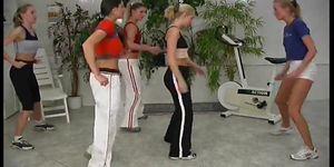 Sexy lesbian aerobics