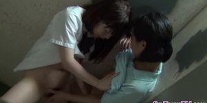 Asian lesbian teens kiss Porn Videos