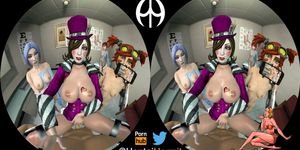 Mad Moxxi Visits a Sperm Bank and Uses You to Inject Cum Whi