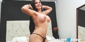 Beautiful Girl With Big Tits Seductive Striptease