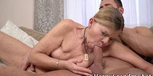 Granny gets doggy styled and sucks