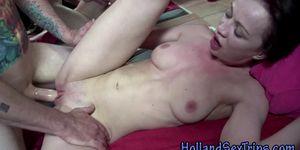 Dick sucking euro hooker gets fucked