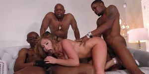 Skylar Snows First Interracial Gangbang